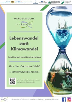 Wandelwoche 2020 Bayreuth Klimawandel Poster Informationenen