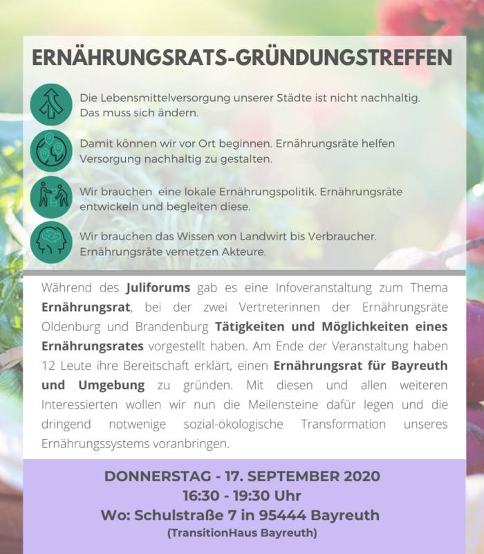 Ernährungsrat-Gründungstreffen am 17.09.2020